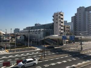 大田区産業プラザ 京急蒲田駅「東口」を出た歩道橋から。
